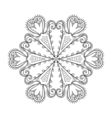 Zentangle elegant snow flake winter for decoration vector image vector image