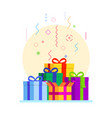 abstract gift boxes composition vector image