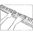 Pianist hands vector image