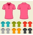 Set of templates colored polo shirts for women vector image