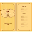 template menu with price vector image