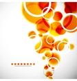 abstract shapes background orange bubbles