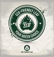 alternative eco friendly leaf stamp vector image vector image