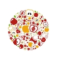 apple icons in circle vector image vector image