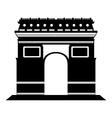 Arc de Triomphe in Paris vector image