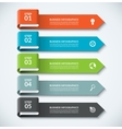 Arrow design elements for business infographics vector image