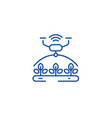 automated irrigation line icon concept automated vector image vector image