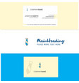 beautiful tie logo and business card vertical vector image