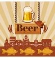 Beer pub concept cartoon style vector image