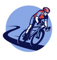 bicycle race event badge vector image vector image