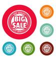 big sale logo simple style vector image