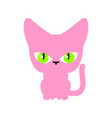 cat pink isolated pet on white background vector image vector image