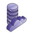 cloud computing storage database digital network vector image vector image