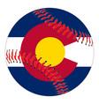 colorado flag baseball vector image vector image