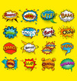comic speech bubbles screams phrases sounds vect vector image vector image