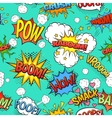 Comic Speech Bubbles Seamless Pattern Background vector image vector image