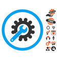 customization icon with lovely bonus vector image vector image