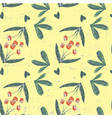 cute beautiful seamless floral pattern on grunge vector image vector image