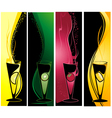 different cocktails banners vector image vector image