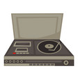 dj panel 70s vinyl disc and cassette player vector image