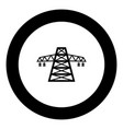 electric pole post high voltage set line icon vector image vector image
