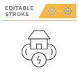 electricity system line icon vector image vector image