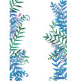 Fern leaves watercolor hand painting frame