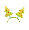 festive hair hoop with christmas trees holiday vector image vector image