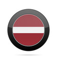 flag of latvia shiny black round button vector image vector image