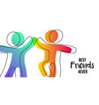 friendship day web banner of friends high five vector image vector image