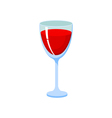 glass with red liquid vector image vector image