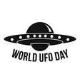 global ufo day logo simple style vector image vector image