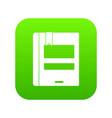 globe icon digital green vector image