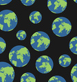 Globe seamless pattern Globes of earth background vector image vector image