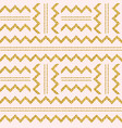 golden glittering zigzag pattern on pink vector image