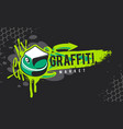 graffiti banner with spray paint cap vector image vector image