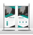 green black triangle business roll up banner vector image vector image