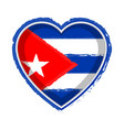heart shaped flag of cuba vector image