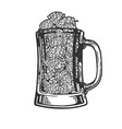 hops plant in beer cup engraving vector image