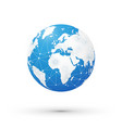 internet concept of global network blue world vector image