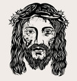 Jesus Christ face vector image