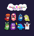 kids in halloween costume wearing face mask vector image