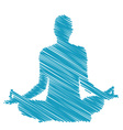 meditation and hypnosis vector image vector image