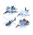 military aircrafts isometric 3d airplanes isolate vector image vector image