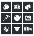 Mine icons vector image vector image