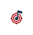music target logo icon design vector image