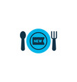 new meal icon colored symbol premium quality vector image