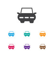of shipment symbol on sedan vector image vector image