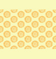 orange flower pattern seamless backdrop vector image