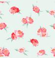 peony flowers seamless vintage summer pattern vector image vector image